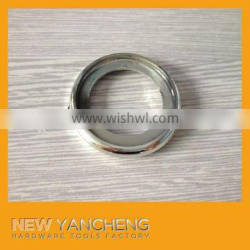 round plastic furniture silvery fittings for glass tea table leg