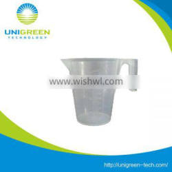 Tansparent pp measuring cup with handle
