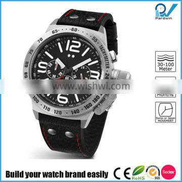 Build your watch brand easily multifunctional china watch factory made stainless steel 100 meters water resistant