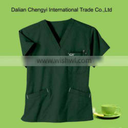 Stylish Solid Embroidery Logo Medical Scrubs