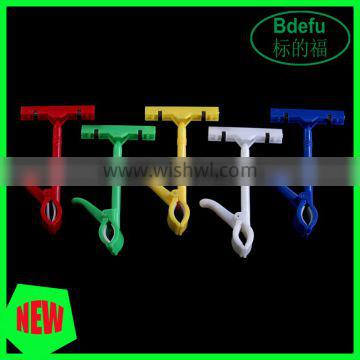 Colorful Advertising Small Plastic POP Sign Holder Clips