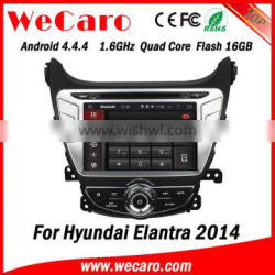 Wecaro WC-HE8054 Android 4.4.4 car stereo 2 din for hyundai elantra 2015 touch screen dvd gps radio gps 1080p 2014