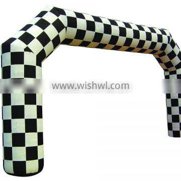 Hola black and white inflatable gate/inflatable arch