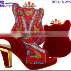 ladies fashion shoes italian shoes and bags to match women BCH-16
