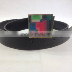 fancy square colorful rubber alloy buckle for girl