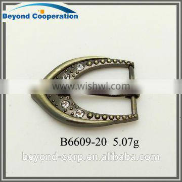 fashion rhinestone antique bronze plated shoe buckles for lady's sandals