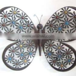 home garden PATIO OUTDOOR decor wall hanging big metal crafts wrought iron butterfly wall decor