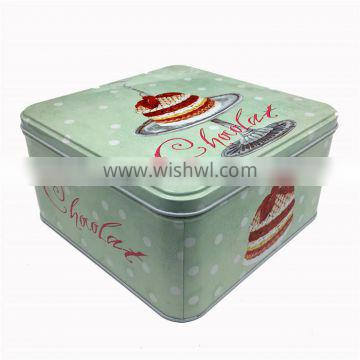 Custom square small gift metal chocolates biscuits cookies cake tin