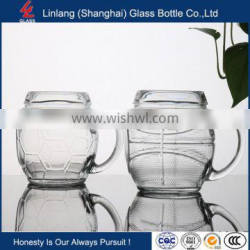 new design Wholesale new design for beer and tea glass cup with handle