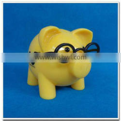2015 new design piggy bank with glass