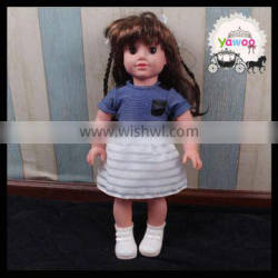 2016 short sleeve tops and chiffon puffy dress baby doll clothes cute doll outfits american girl doll clothes