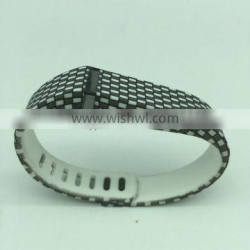 Black And White Patterns Replacement Wristband With Metal Clasp for Fitbit Flex
