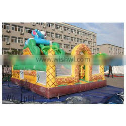 Wolong PVC Trapualin Inflatable Dry Slide, inflatable Water Slides For Backyard