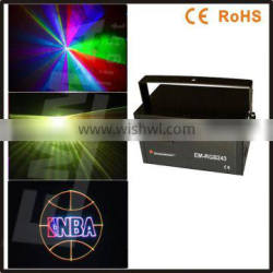 2 watt RGB full color Animation laser light with SD+2D+3DPattern(637nm red thin beam),christmas laser projector, outdoor light