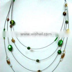 Multi string bead Necklaces