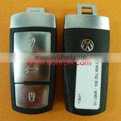 High Quality VW Magotan 3 button remote key with ID46 chip 3C0 959 752 BA 433MHZ after 2010 year