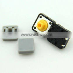 F0361 12*12*8.8mm plastic tact switch /mini tactile switch/ mini touch button switch cap grey