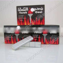 Factory direct torch coal brand silver bamboo charcoal hookah