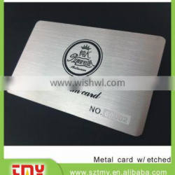 factory price stainless steel material laser cut metal business card