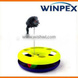 Cat play toy, Cat toy with spring ball