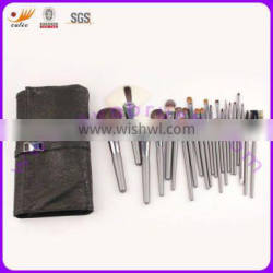 23-Piece Animal Hair Professional Make Up Brush Set With Cosmetic Pouch
