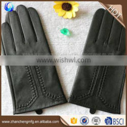 New fashion man skin tight leather gloves sheepskin gloves with great price