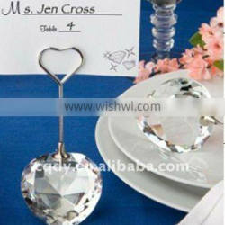 Heart Shaped Crystal place card holder in Deluxe Gift Box/wedding gift/wedding decoration/