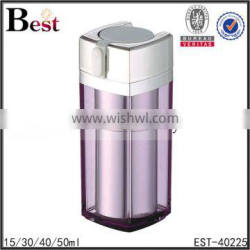 15/30/40/50ml transparent surface acrylic plastic bottle double wall clear painting blue color Supplier's Choice