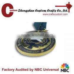 Promotional new products expert factory custom racing metal coin honor medal