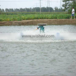 New type fish feeder for throwing feed and aeration to ponds