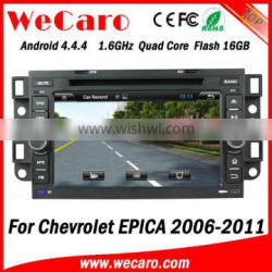 Wecaro WC-CU7011 Android 4.4.4 car multimedia system double din for chevrolet epica car audio audio system mirror link