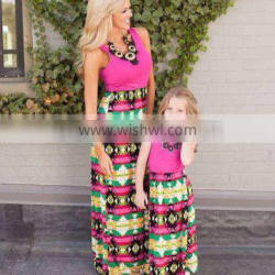 Family Style Mother and Daughter Maxi Dress Women apparel