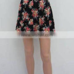 Lady's knitted printed skirt