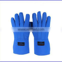 CE and ISO waterproof breathable cryogenic gloves for resisting liquid nitrogen
