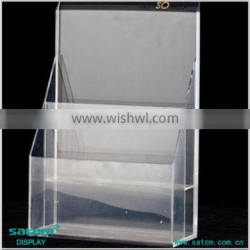 High Quality Factory Price A4 Acrylic Brochure Holder On Promotion Price