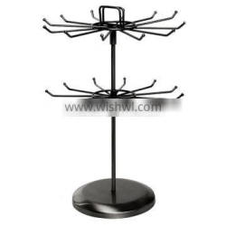 countertop rotating Metal 2 Tier Jewelry Display Stand