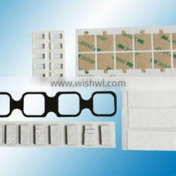 die-cutting rubber parts with 3M adhesive