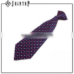 fashion design high quality clip-on coral colored tie
