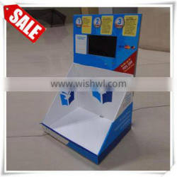 Store knife cardboard counter top display stand