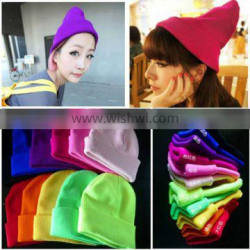 customized embroider knitted hat