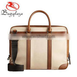 M4007 Alibaba express china wholesale PU leather blank embossed logo man briefcase