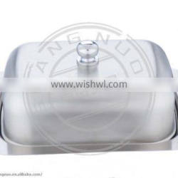 West style square shape Stainless steel 202 butter BOX with lid