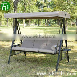 outdoor furniture 3seat garden swing with roof