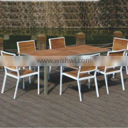 teak aluminum outdoor furniture dining table and chairs china
