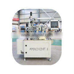 Two-axis CNC knurling machine with strip insertion