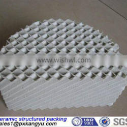ceramic structured tower packing suitable for all tower diameters