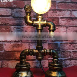 Industrial Style Pipe Lights Steampunk Pipe Table Lamp Edison Lamp Robot