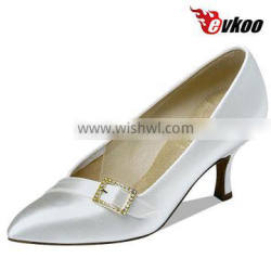 Wholesale price Evkoo modern /tango dance shoes simple style satin material comfortable