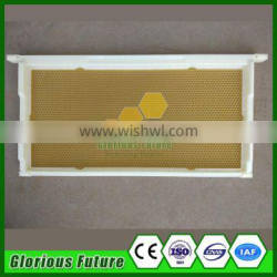 2017 Hot sales plastic bee frame with bee wax foundation sheet assembled