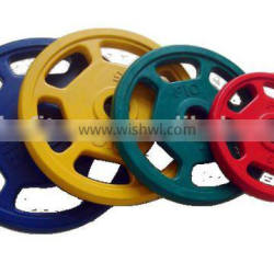 Colourful weight plates with 6 holes